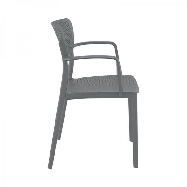 Chaise avec accoudoirs en plastique empilable - Loft - 15