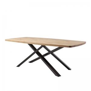 Table de salle à manger pied mikado plateau tonneau - Carte