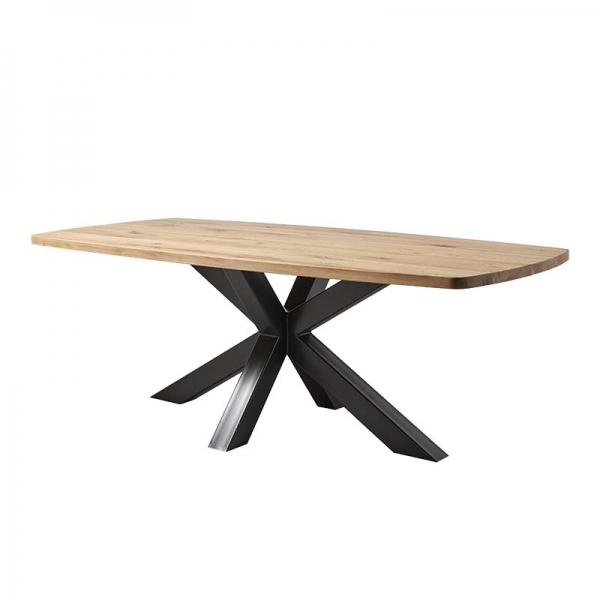 Table design pied mikado en bois massif et plateau tonneau - Carte - 2