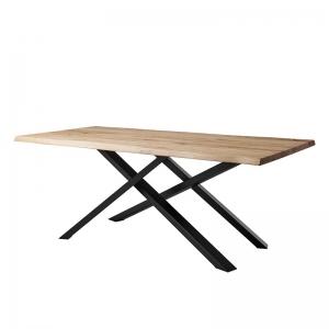 Table de salle à manger rectangulaire pieds mikado - Carte