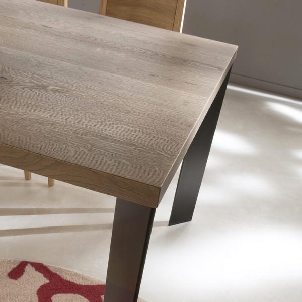 Table à manger industrielle moderne bois et métal - 14.04 - 3
