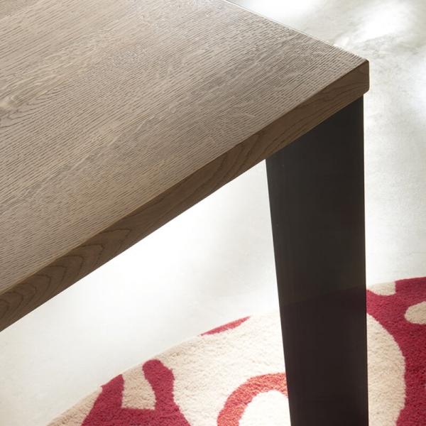 Table salle à manger industrielle moderne bois et métal - 14.04 - 4