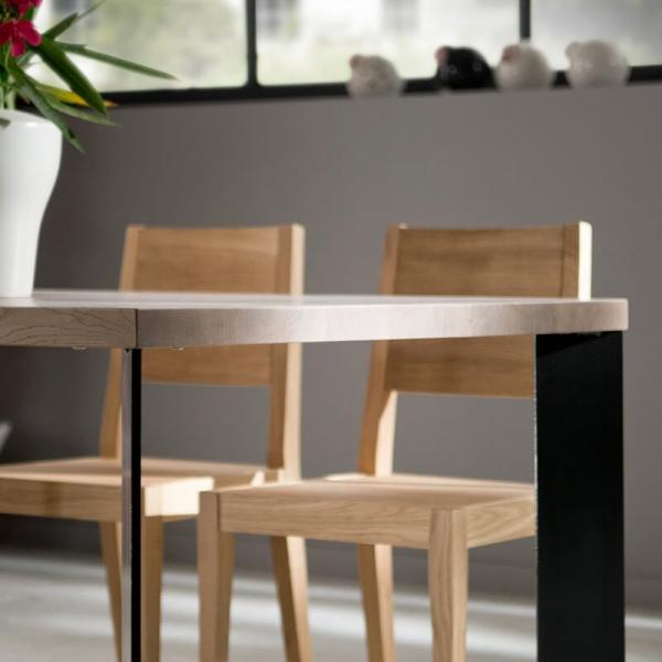 Table à manger moderne bois et métal - 14.04 - 7
