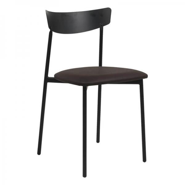 Chaise de salle à manger rembourrée marron - Clip - 18