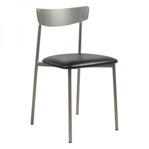 Chaise de salle à manger métal noire brillant - Clip - 26