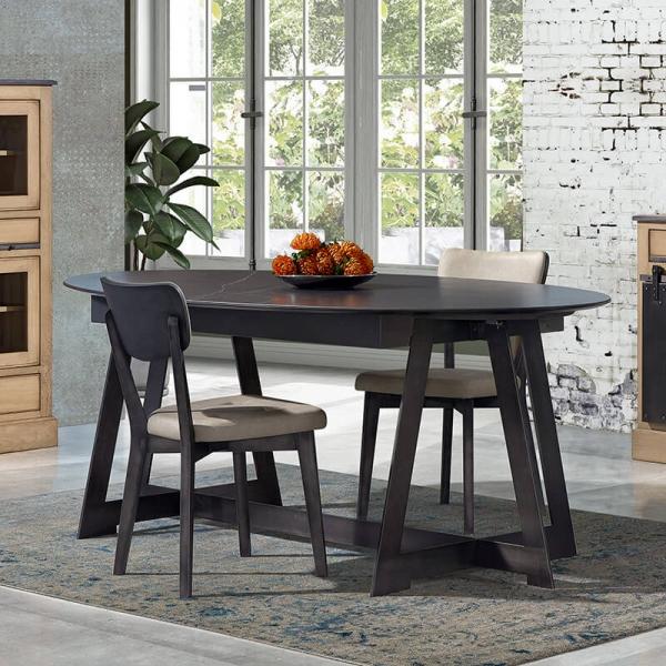 Table design ovale en céramique avec allonges - Générique - 4