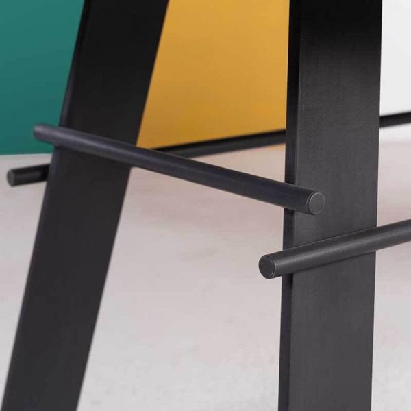 Table moderne en béton ciré pieds métal made in France - Opale - 3