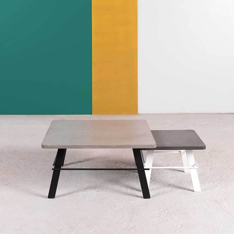 Table Basse Design Carree En Beton Cire Fabrication Francaise