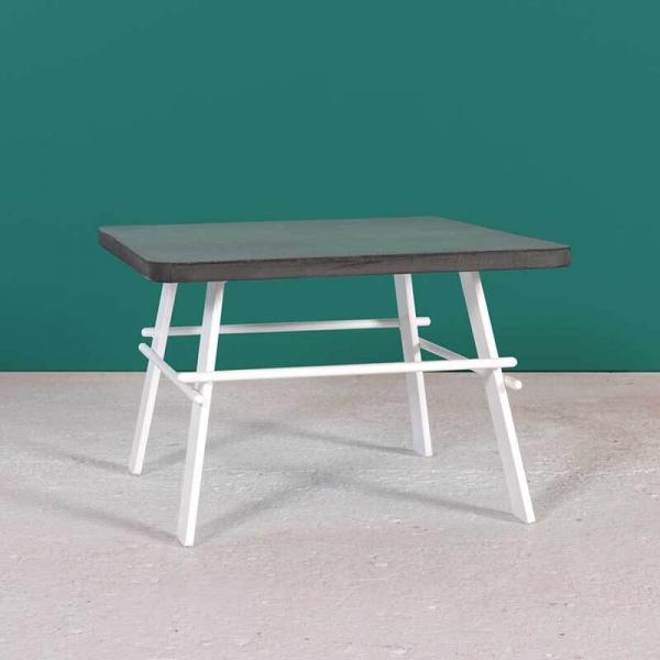 Table basse française carrée en béton ciré gris anthracite fabrication française - Opale - 7