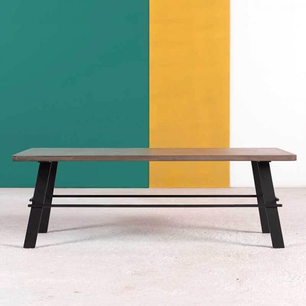 Table basse design rectangulaire en béton ciré fabrication française - Opale - 3