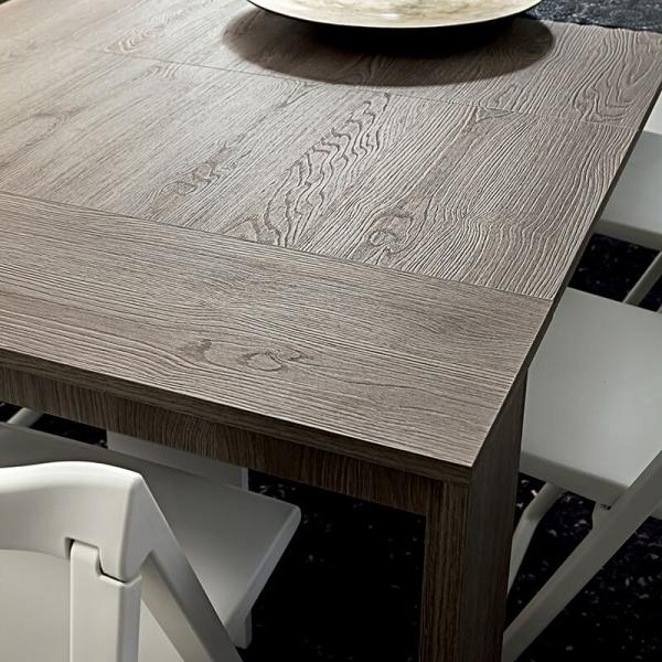 Table console extensible en mélaminé effet bois grisé - Tony - 4