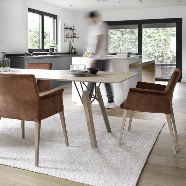 Fauteuil de séjour confortable en bois et tissu - Pure classic Mobitec® - 6