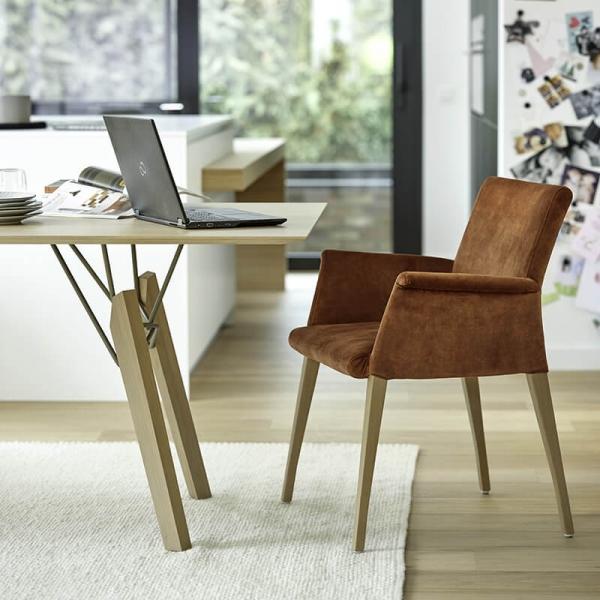 Fauteuil de séjour confortable en bois et tissu - Pure classic Mobitec® - 7