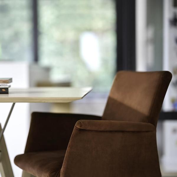 Fauteuil de séjour confortable en bois et tissu - Pure classic Mobitec® - 8