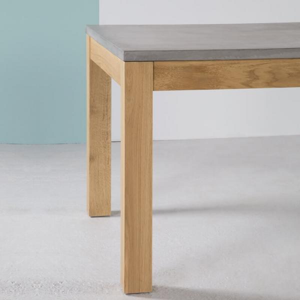 Table en béton ciré et bois massif avec allonges en bois - Repas - 7