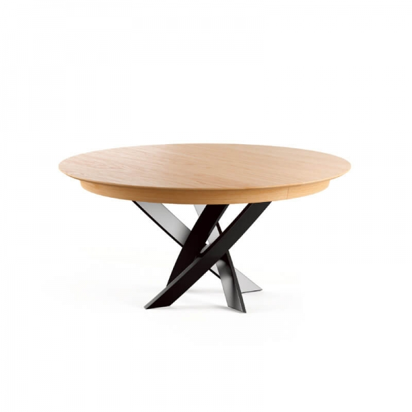 Table ronde extensible design de fabrication française - Elliptica - 1