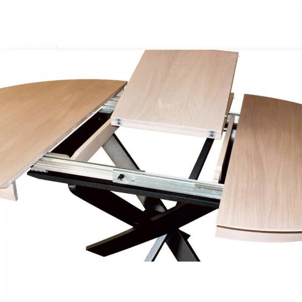 Table française ronde extensible style design - Elliptica - 2