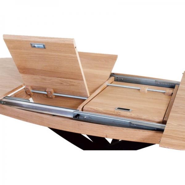 Table extensible en bois de fabrication française - Elliptica - 3