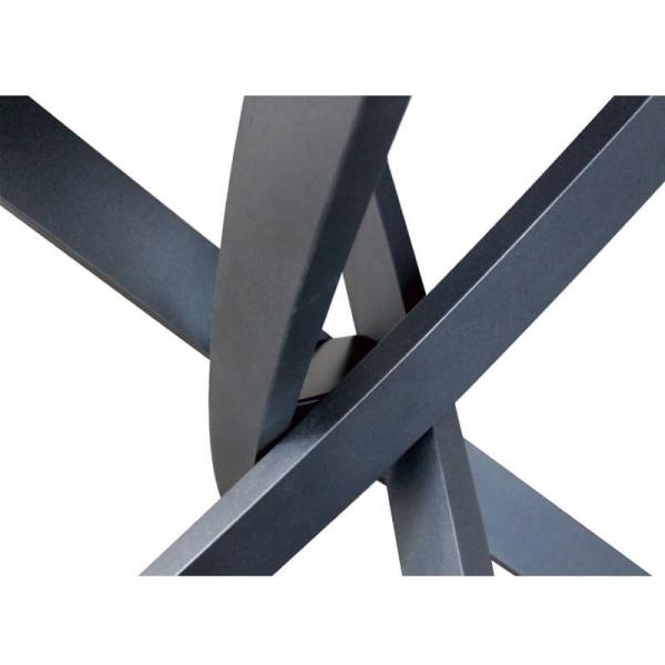 Table design pied central en bois et céramique - Elliptica - 2
