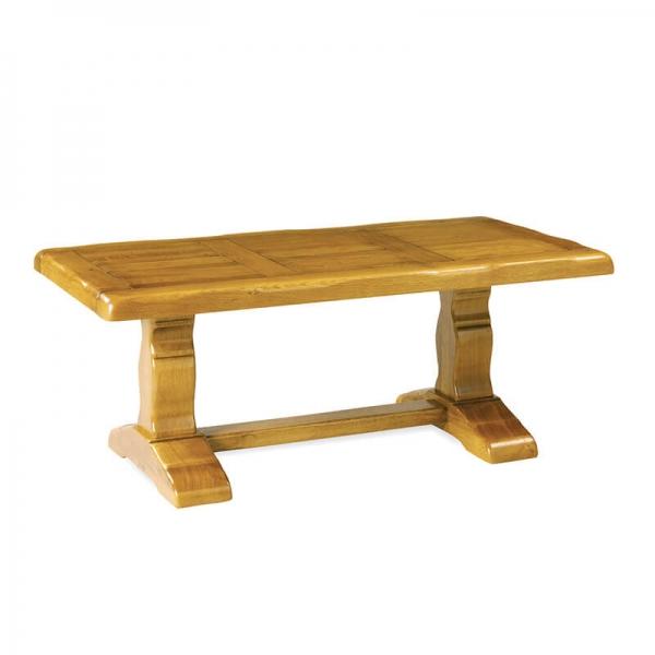 Table de monastère rustique en bois massif avec allonges - Monastère - 3