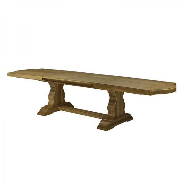 Table d'abbaye rustique en bois massif extensible - Monastère - 7