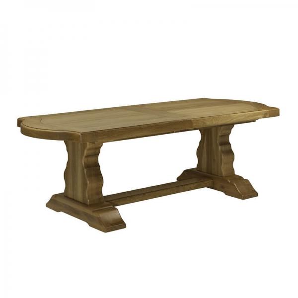Table rustique made in France en bois massif - Monastère - 9