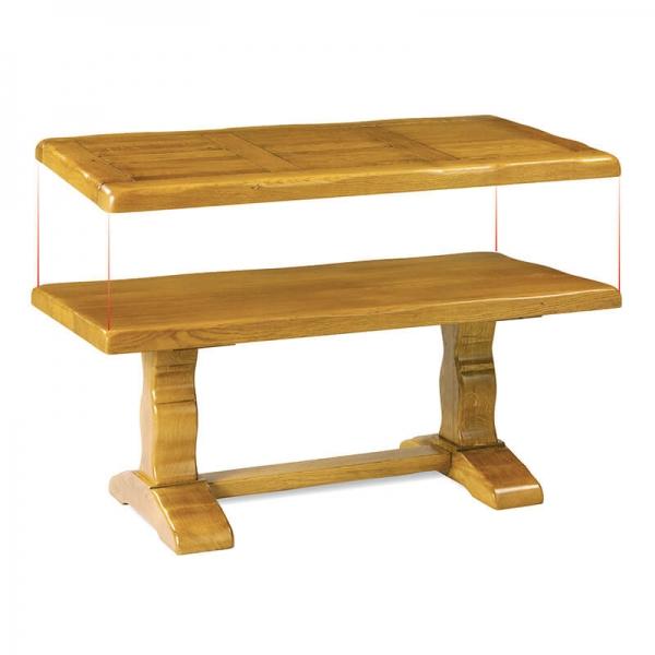 Table rustique d'abbaye française en bois massif - Monastère - 13