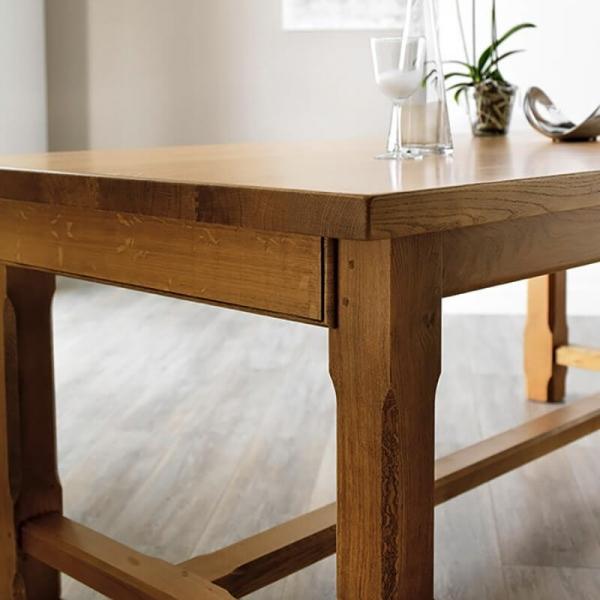 Table rustique en chêne massif de fabrication française extensible - Ferme - 2