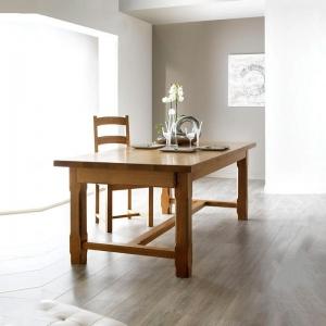Table de ferme extensible fabrication française en bois massif - Ferme
