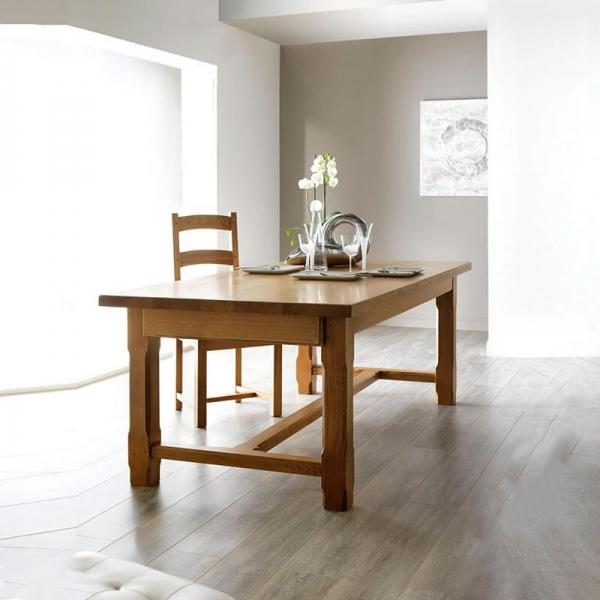 Table de ferme extensible fabrication française en bois massif - Ferme - 1