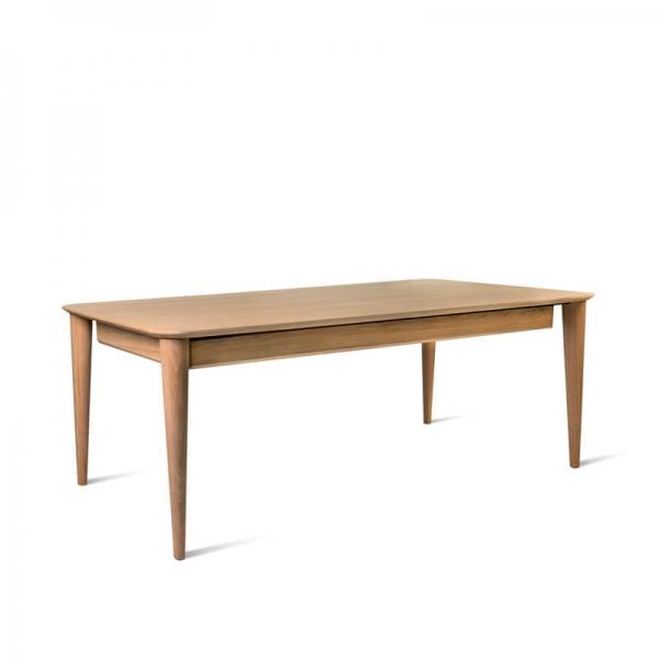 Table rétro de fabrication française en bois massif - Sixties - 2