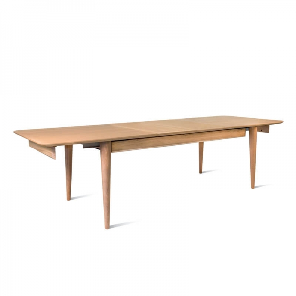 Table vintage extensible en bois massif made in France - Sixties - 5