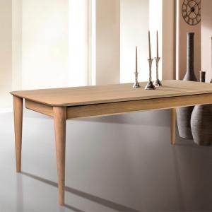 Table vintage française extensible en bois massif - Sixties