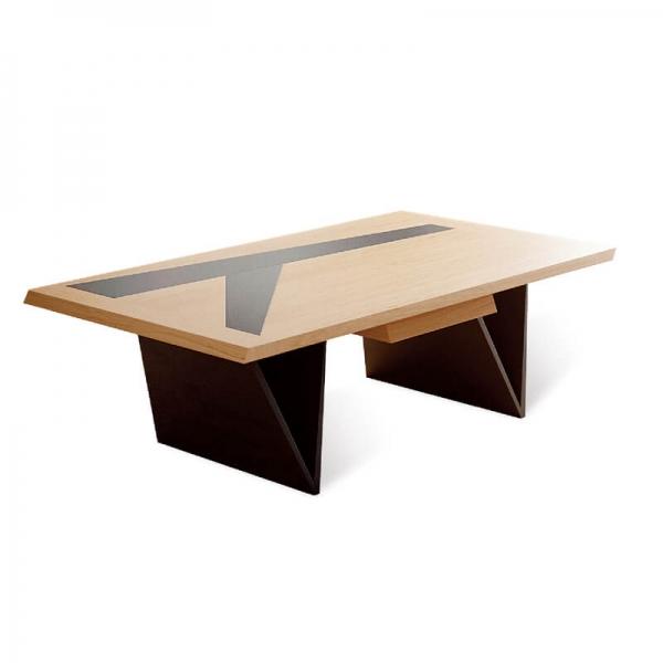 Table basse made in France en chêne massif et céramique - Delta - 2