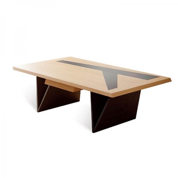 Table de salon avec rangement fabrication française - Delta - 3