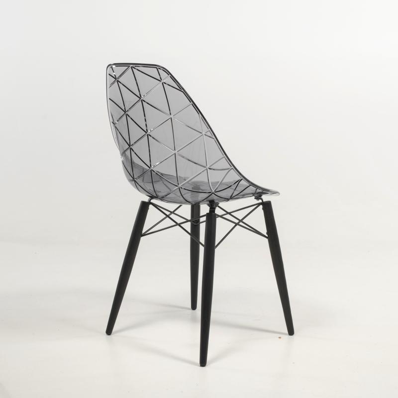 chaise bar prisma fumé frene