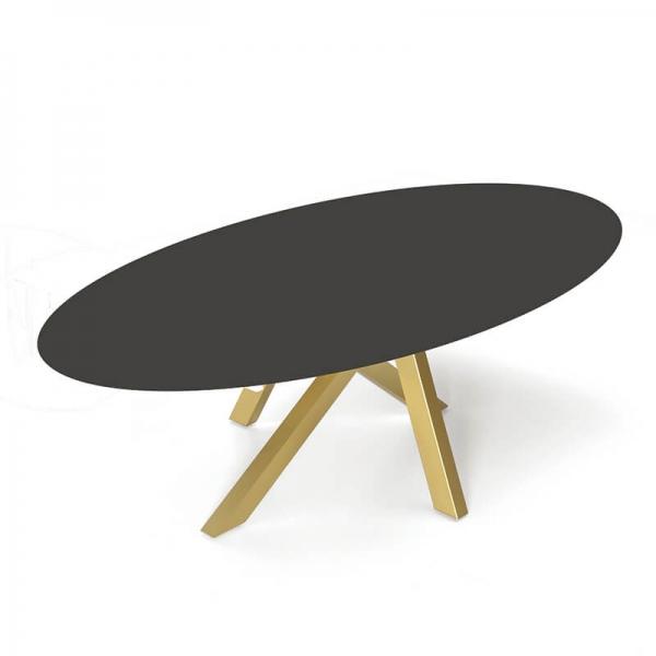 Table design ovale en dekton pied central - Moon - 3
