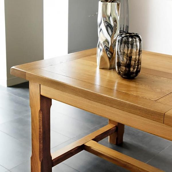 Table maison de campagne en bois massif de fabrication française avec allonges - Ferme - 2