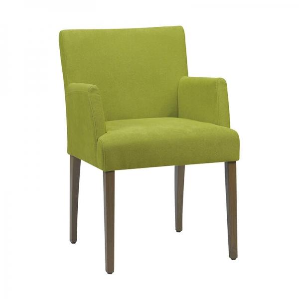 Fauteuil Cosy en tissu vert et bois foncé - Shanna Mobitec® - 1