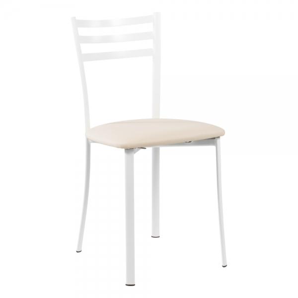 Chaise de cuisine structure métal blanc - Ace 1320 - 38