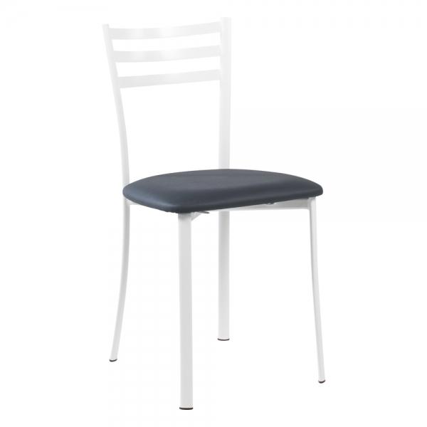 Chaise de cuisine métal blanc assise rembourrée - Ace 1320 - 40