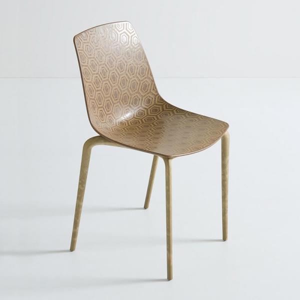 Chaise écologique recyclée tendance et empilable - Alhambra Eco - 2