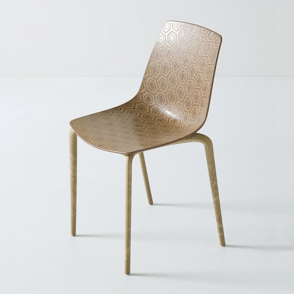 Chaise recyclée design et empilable - Alhambra Eco - 3