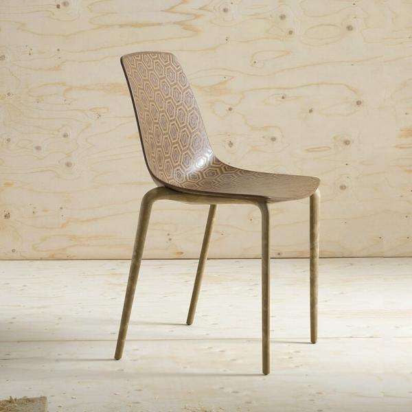 Chaise écologique recyclée design et empilable - Alhambra Eco - 1
