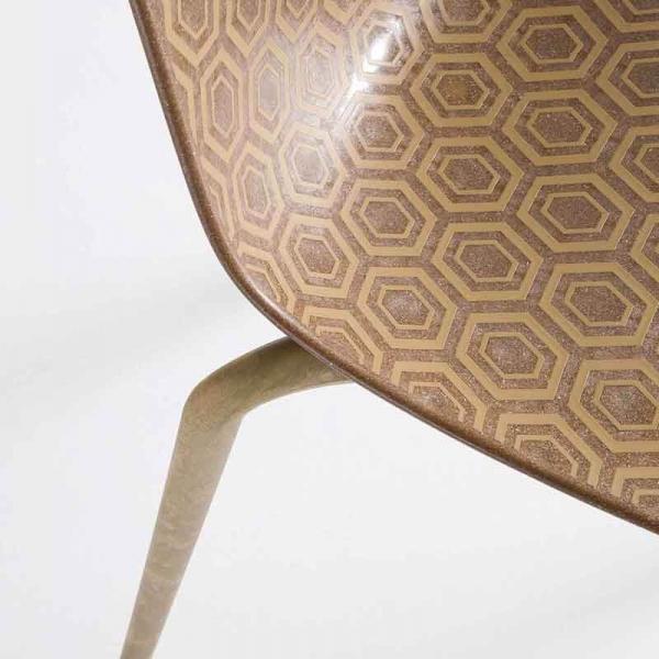 Chaise écologique recyclée bois design et empilable - Alhambra Eco - 5