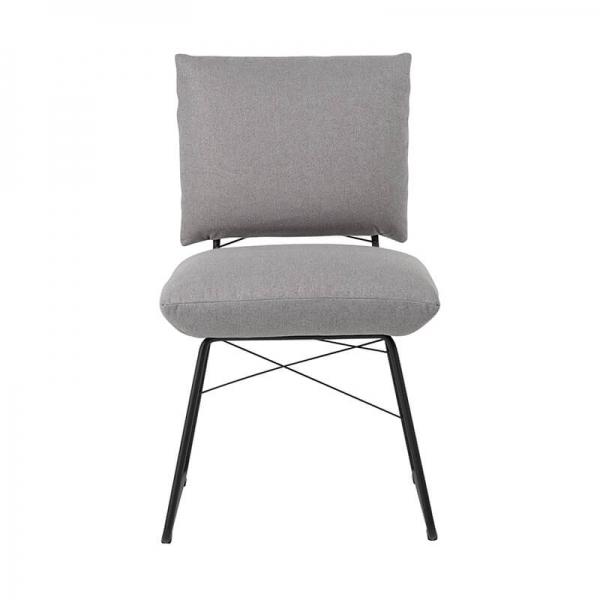 Chaise confortable tendance grise avec structure en métal noir- Cosy Mobitec® - 3