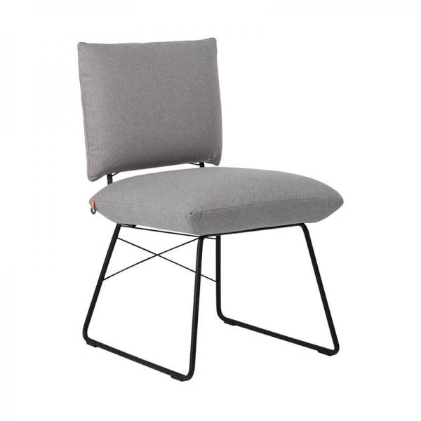 Chaise confortable design grise avec structure en métal noir - Cosy Mobitec® - 1