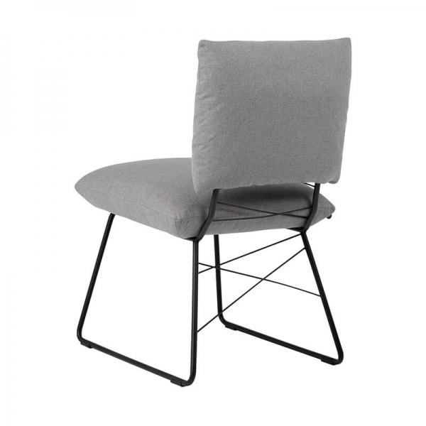 Chaise confortable moderne grise avec structure en métal noir - Cosy Mobitec® - 4