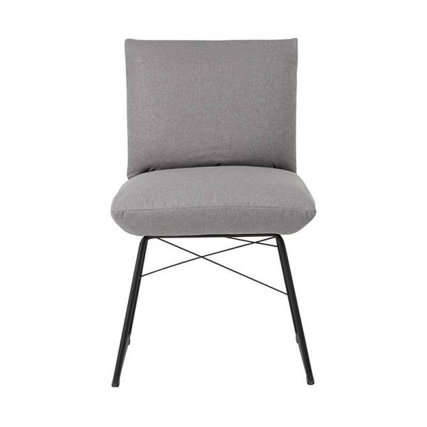 Chaise design grise avec structure en métal noir- Cosy Mobitec® - 5