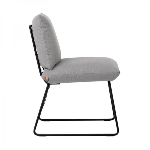 Chaise design grise avec structure en métal noir - Cosy Mobitec® - 7